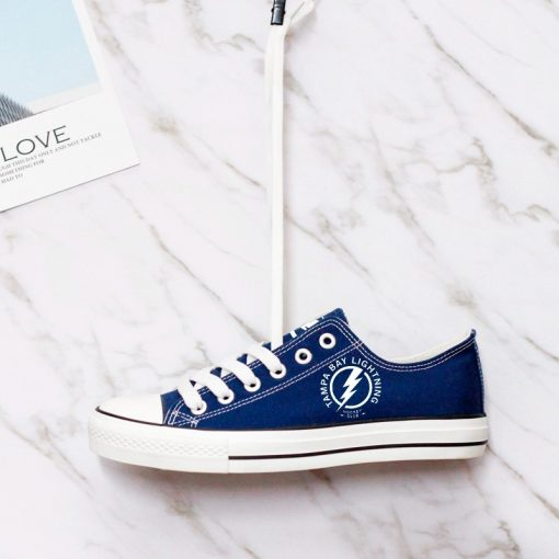 Tampa Bay Lightning Fans Low Top Canvas Sneakers