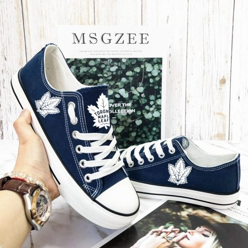Toronto Maple Leafs Fans Low Top Canvas Sneakers