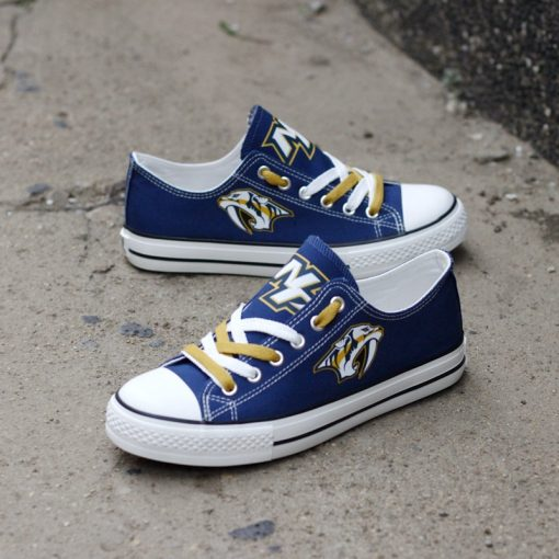 Nashville Predators Low Top Canvas Sneakers
