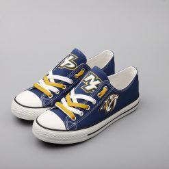 Nashville Predators Low Top Canvas Sneakers