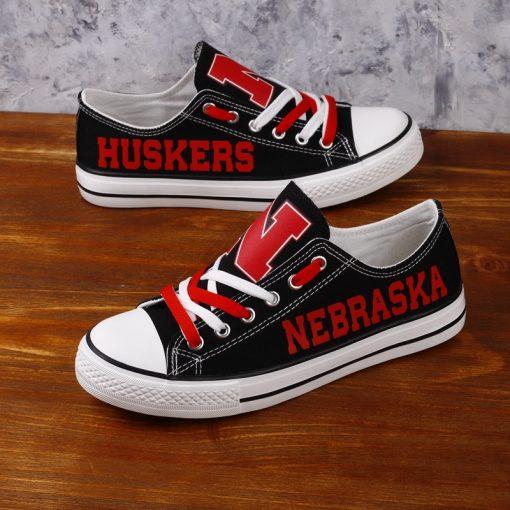 Nebraska Cornhuskers Limited Low Top Canvas Sneakers