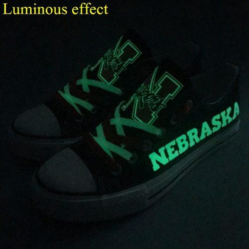 Nebraska Cornhuskers Limited Luminous Low Top Canvas Sneakers