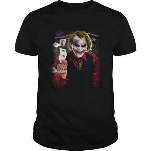 New Collection New England Patriots Joker Poker Shirt T Shirt For Women Men unisex men women