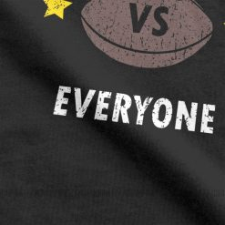 New England VS Everyone Men s T Shirts Football Rugby Patriot Fans Funny Pure Cotton Tees 2