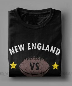 New England VS Everyone Men s T Shirts Football Rugby Patriot Fans Funny Pure Cotton Tees 3