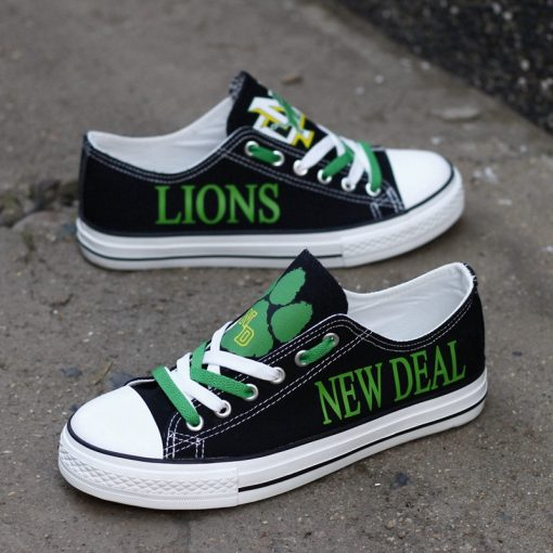 New Deal Lions Limited High School Students Low Top Canvas Sneakers