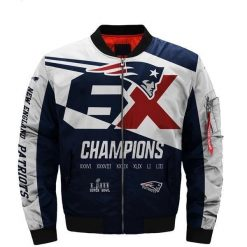 New England Patriots Bomber Coat Men Women
