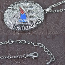 New England Patriots Championship Pendant with Necklace