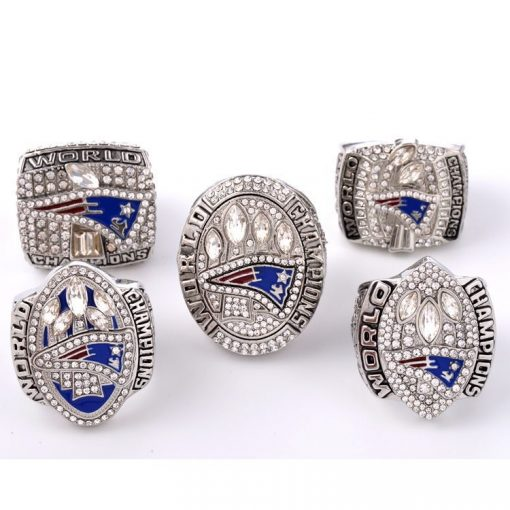 New England Patriots 2001/2003/2004/2015/2017 Championship Ring