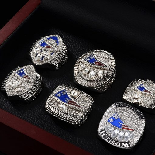New England Patriots 2001/2003/2004/2015/2017/2018 Championship Ring