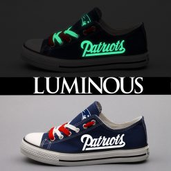New England Patriots Limited Luminous Low Top Canvas Sneakers