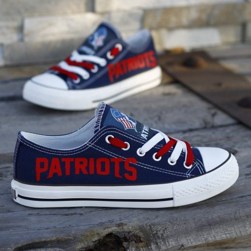 New England Patriots Limited Low Top Canvas Sneakers