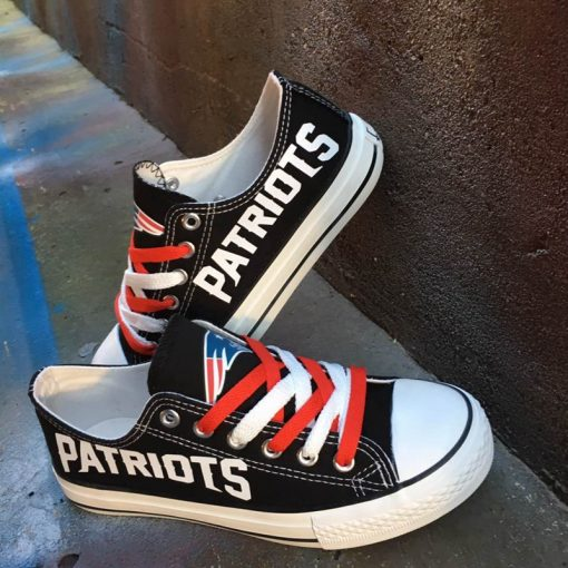 New England Patriots Limited Low Top Canvas Shoes Sport