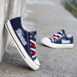 New England Patriots Low Top Canvas Sneakers