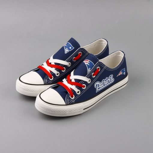 New England Patriots Limited Fans Low Top Canvas Sneakers