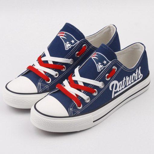 New England Patriots Limited Print Fans Low Top Canvas Shoes Sport