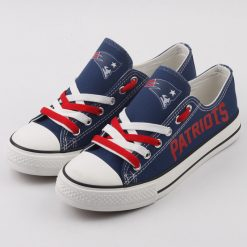 New England Patriots Fans Low Top Canvas Sneakers