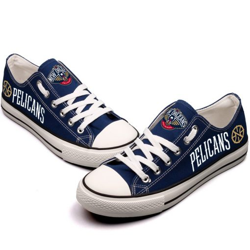 New Orleans Pelicans Low Top Canvas Sneakers