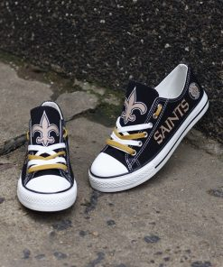 New Orleans Saints Low Top Canvas Sneakers