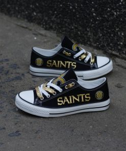 New Orleans Saints Print Low Top Canvas Shoes Sport