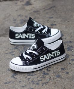 New Orleans Saints Limited Luminous Low Top Canvas Sneakers