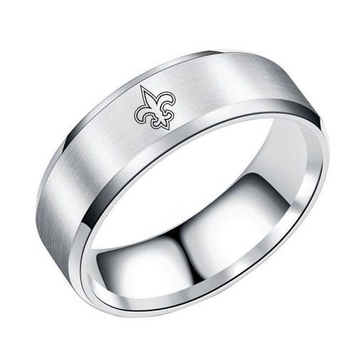New Orleans Saints Tungsten White Rings DIY