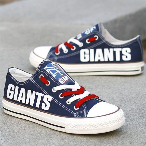 New York Giants Limited Low Top Canvas Sneakers