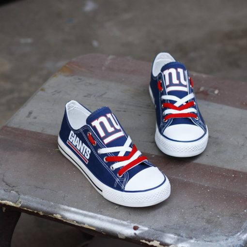 New York Giants Fans Low Top Canvas Sneakers