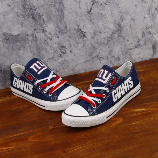 New York Giants Limited Fans Luminous Low Top Canvas Sneakers
