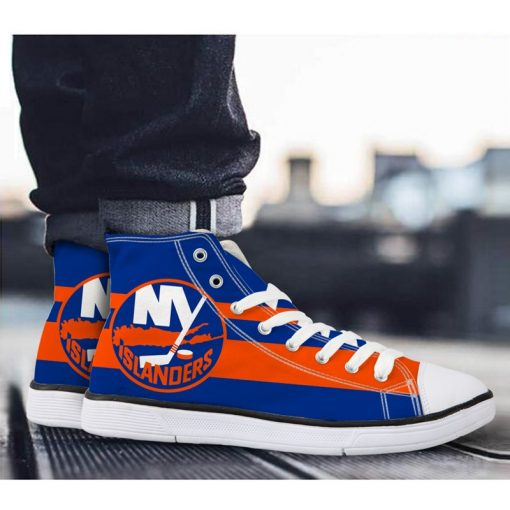 New York Islanders 3D NHL Fans Casual Canvas Shoes Sport