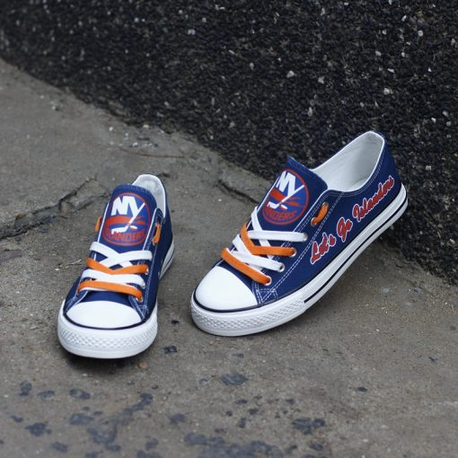 New York Islanders Limited Fans Low Top Canvas Sneakers