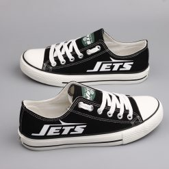New York Jets Limited Fans Low Top Canvas Sneakers