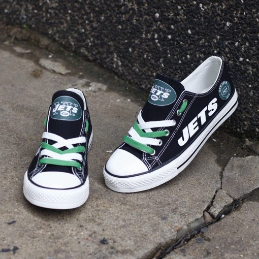 New York Jets Low Top Canvas Sneakers