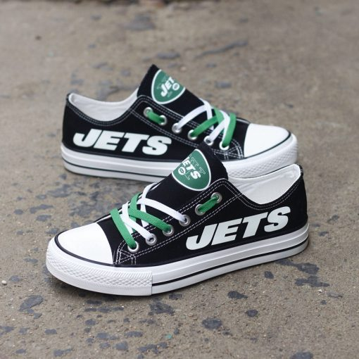 New York Jets Limited Luminous Low Top Canvas Sneakers