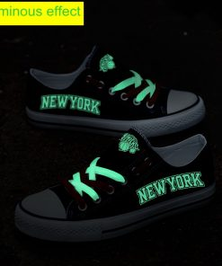 New York Knicks Limited Luminous Low Top Canvas Sneakers