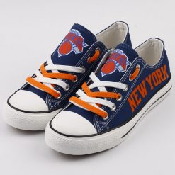 New York Knicks Low Top Canvas Sneakers