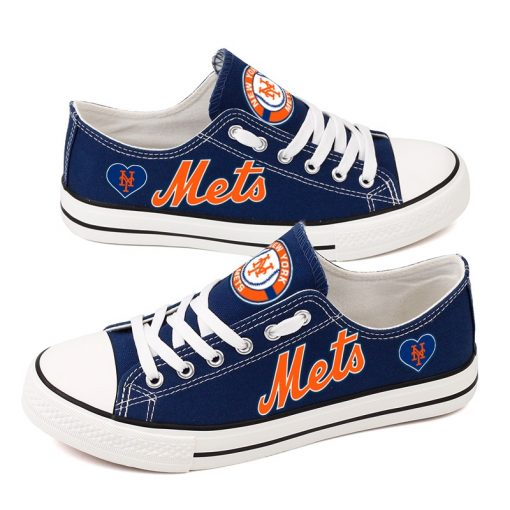 New York Mets Low Top Canvas Shoes Sport