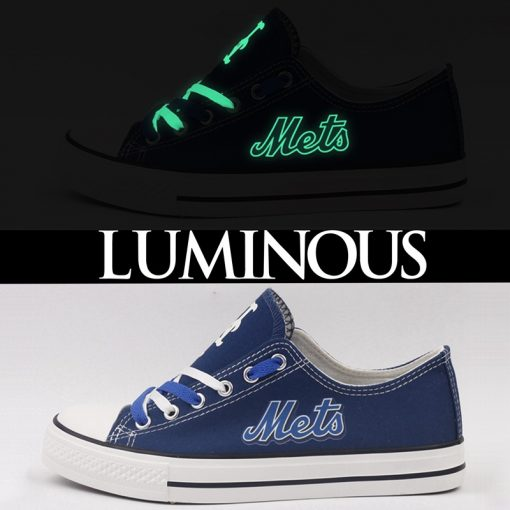 New York Mets Limited Luminous Low Top Canvas Sneakers
