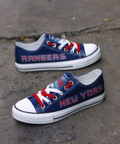 New York Rangers Limited Low Top Canvas Sneakers