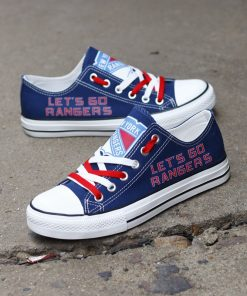 New York Rangers Limited Low Top Canvas Shoes Sport