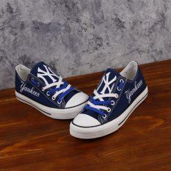 New York Yankees Low Top Canvas Sneakers