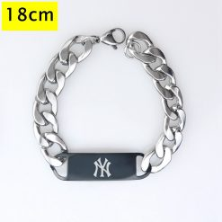 New York Yankees Men Fashion Wristlet Stainless Steel Bracelet