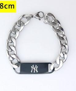 New York Yankees Men Fashion Wristlet Stainless Steel Bracelet