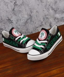 Nigeria National Team Fans Low Top Canvas Sneakers