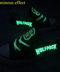 North Carolina State Wolfpack Limited Luminous Low Top Canvas Sneakers