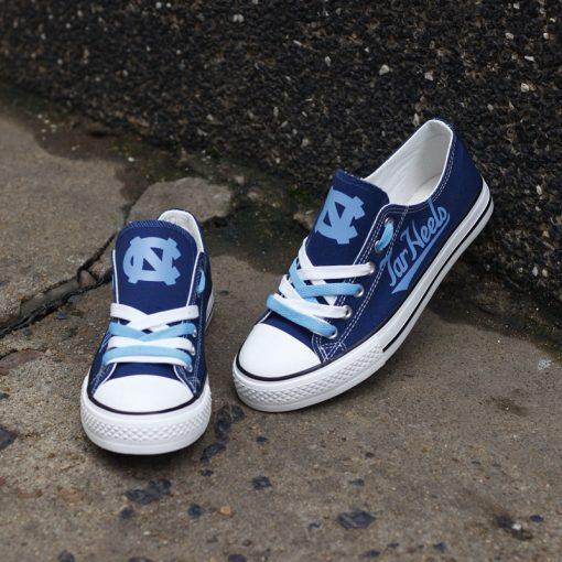 North Carolina Tar Heels Limited Low Top Canvas Sneakers