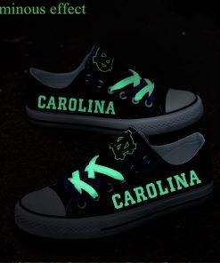 North Carolina Tar Heels Limited Luminous Low Top Canvas Sneakers