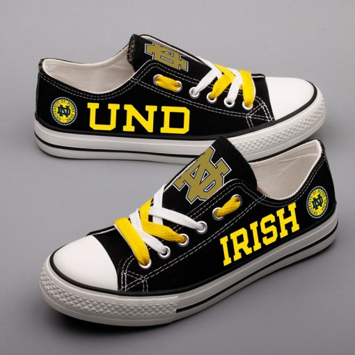 Notre Dame Fighting Irish Limited Low Top Canvas Shoes Sport