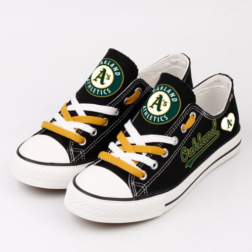 Oakland Athletics Limited Low Top Canvas Sneakers