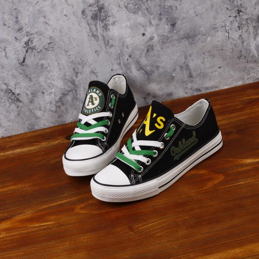 Oakland Athletics Limited Print Low Top Canvas Sneakers